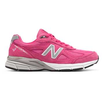 New Balance Pink Ribbon 990v4, Komen Pink with Silver