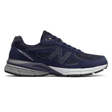 New Balance 990复古鞋 男款 缓震支撑 美产经典, 藏青色