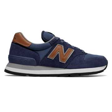 New Balance 995 Winter Peaks, Navy with Brown