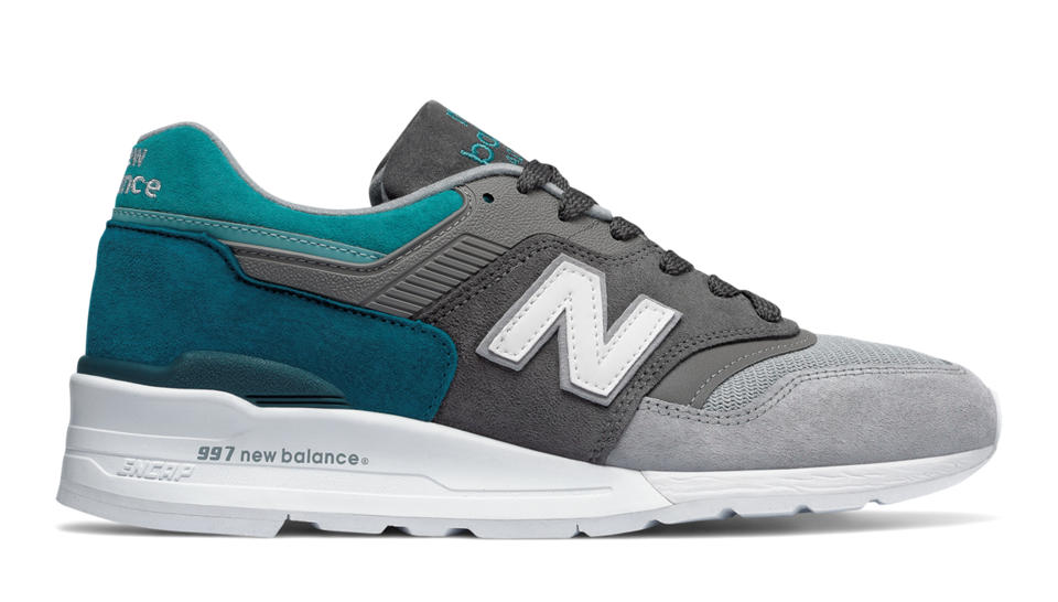 New Balance 997 Made in US Color Spectrum, Castlerock with Lake Blue