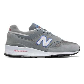 New Balance 997 Suede, Grey with Blue Bell