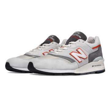 New Balance 997复古鞋 中性款 避震中底 美国原产, 浅灰色