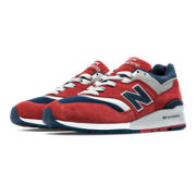 New Balance 997 Connoisseur Retro Ski, Red with Navy & Silver