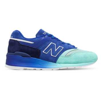 New Balance 997 Baseball, Navy with Blue & Ozone Blue Glow