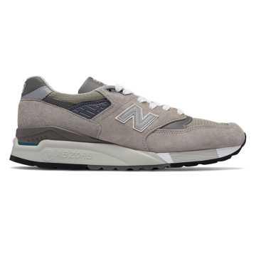 New Balance 998复古鞋 男款 避震保护 美国原产, 灰色