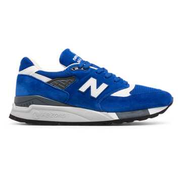 New Balance 998 Suede, Blue with White