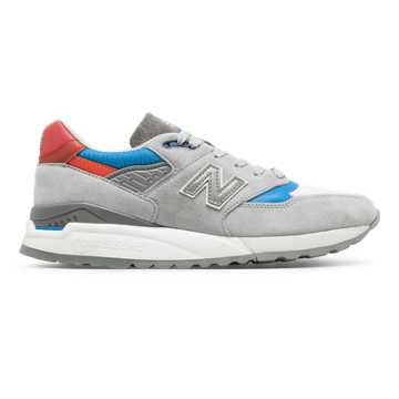 New Balance 998 Baseball, Grey with Light Blue