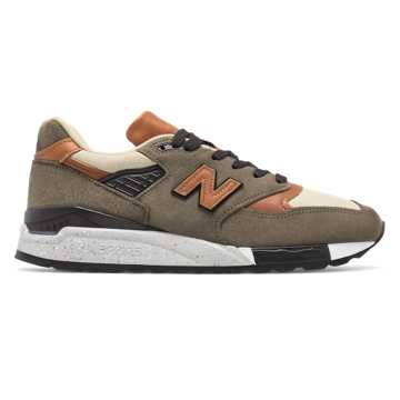 New Balance 998 Made in the USA, Camel with Military Green & Black