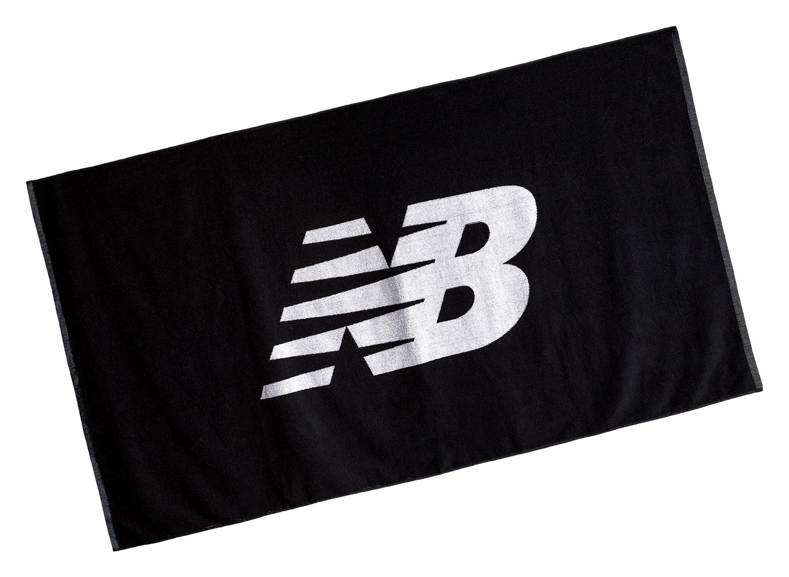 NB Large NB Towel, Black with White