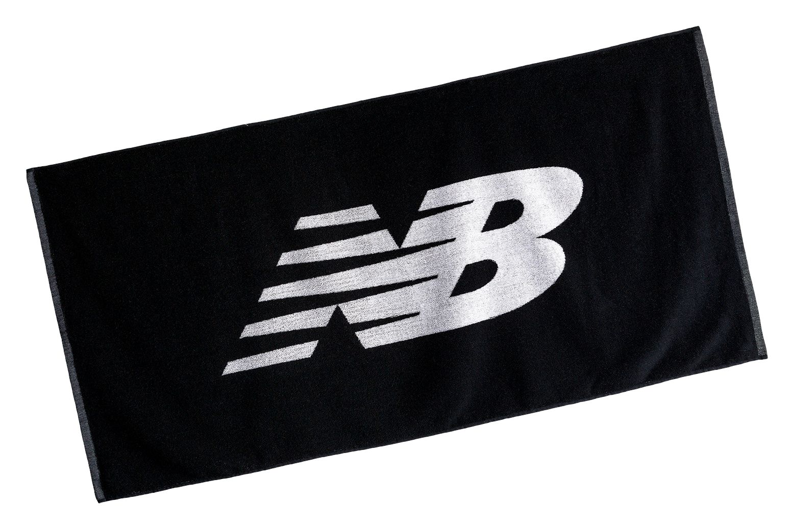 NB Medium NB Towel, Black with White