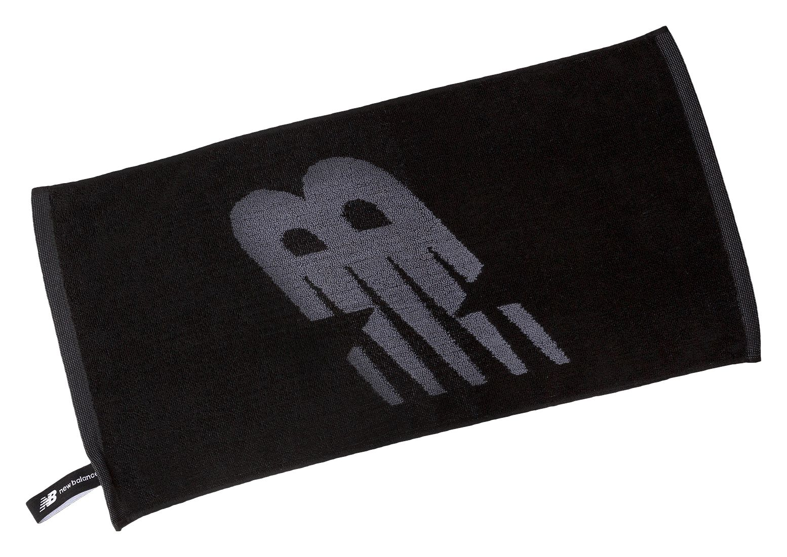 NB NB Gym Towel, Black with Grey