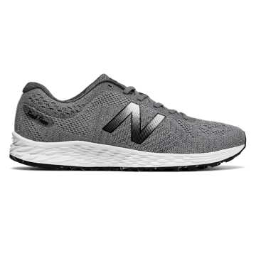 New Balance Fresh Foam Arishi Sweatshirt, Silver Mink with Gunmetal