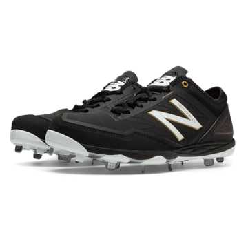 New Balance Low-Cut Minimus Metal Cleat, Black