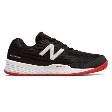 New Balance 896v2, Black with Flame & White