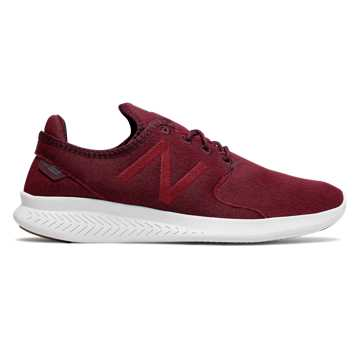New Balance FuelCore Coast v3 Sweatshirt, Chocolate Cherry with Mercury Red & Magnet