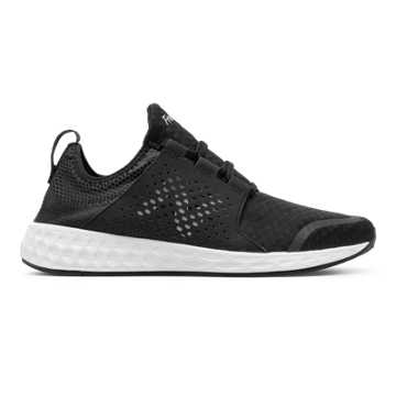 New Balance Mens Fresh Foam Cruz, Black with White