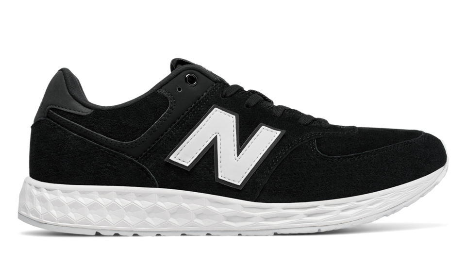 NB 574 Fresh Foam Suede, Black with White