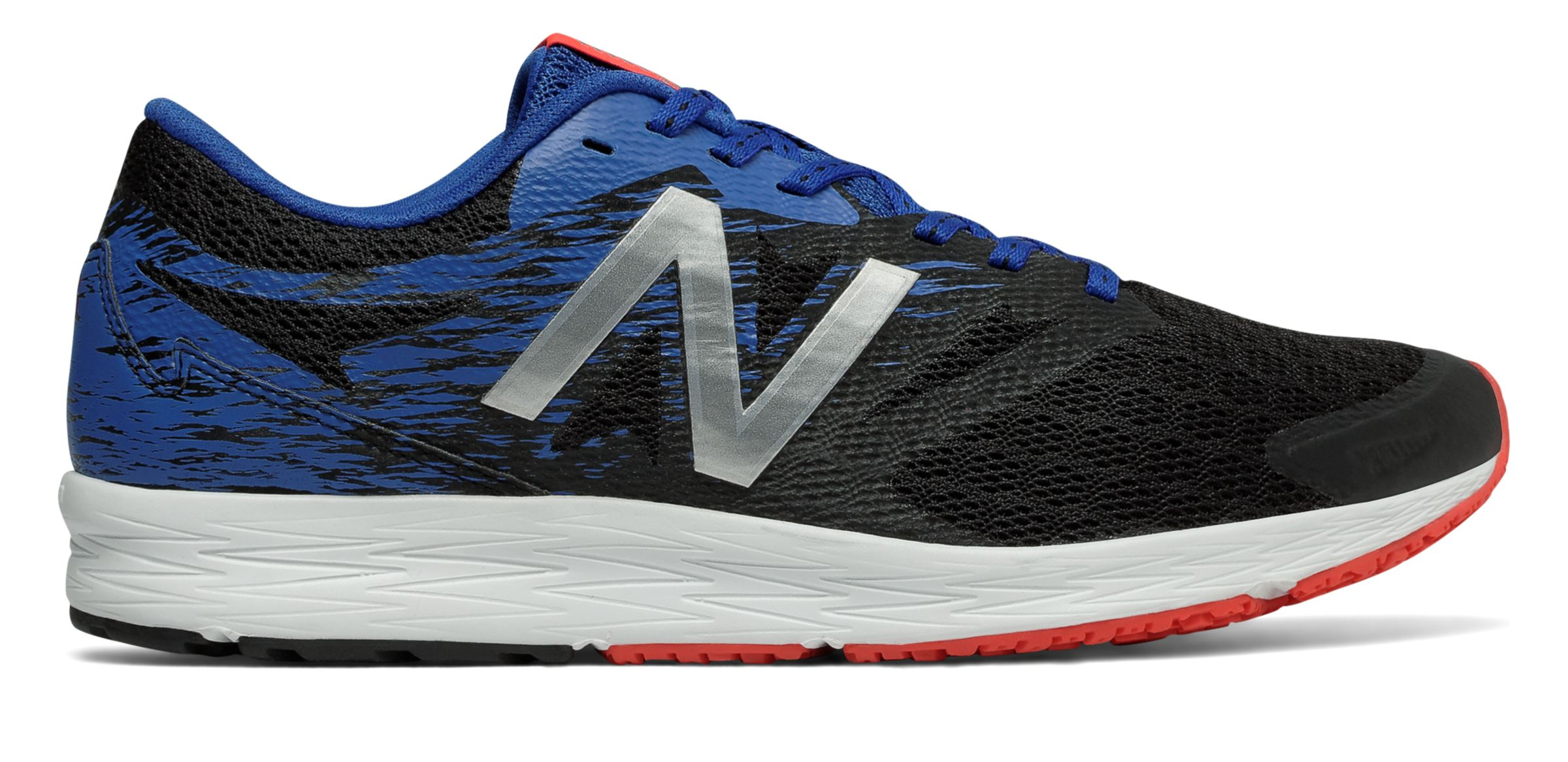 NB New Balance Flash, Black with Team Royal & Energy Red