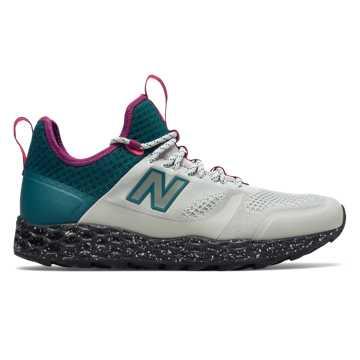 New Balance 复古鞋 男款 缓震舒适, 灰白色/蓝色