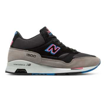 New Balance 1500 Made in UK Mid-Cut, Grey with Black
