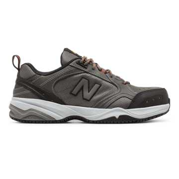 New Balance Steel Toe 627 Textile, Grey with Black