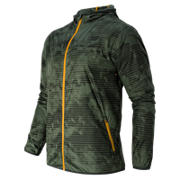 New Balance Windcheater Jacket, Slate Green with Defense Green & Gold Rush