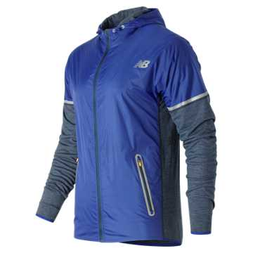 New Balance Performance Merino Hybrid Jacket, Galaxy Heather with Galaxy