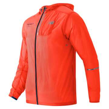 New Balance United NYC Half Packable Jacket, Alpha Orange