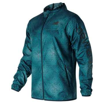 New Balance Windcheater Jacket, Riptide with Firefly
