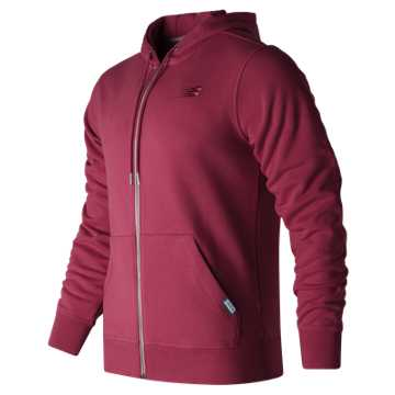 New Balance Classic Full Zip Hoodie, Admiral Red