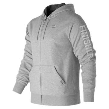 New Balance Brooklyn Half Finisher Hoodie, Athletic Grey with White