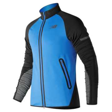 New Balance Trinamic Jacket, Electric Blue with Black