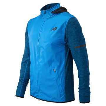 New Balance N Transit Jacket, Electric Blue with Black