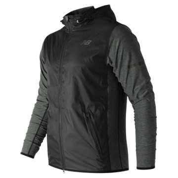 New Balance N Transit Jacket, Heather Charcoal