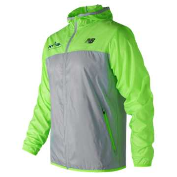 New Balance Run for Life Windcheater Jacket, Energy Lime