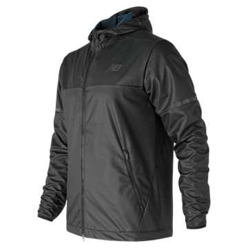 New Balance Max Intensity Jacket, Black with Tornado