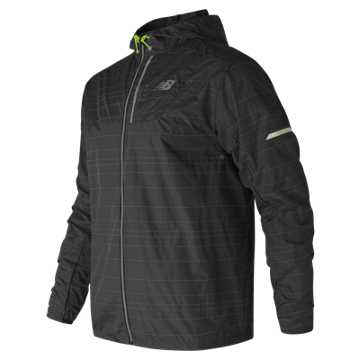 New Balance Reflective Lite Packable Jacket, Black