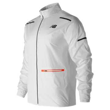 New Balance Precision Run Jacket, White