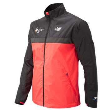 New Balance NYC Marathon Windcheater Jacket, Energy Red