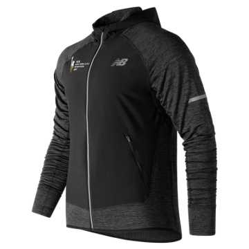 New Balance NYC Marathon NB Heat Run Jacket, Heather Charcoal