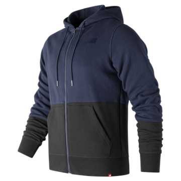 New Balance Essentials Full Zip Hoodie, Dark Cyclone