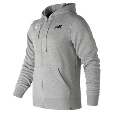 New Balance NYC Marathon Essentials Full Zip Hoodie, Athletic Grey