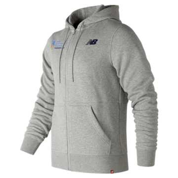 New Balance NYC Marathon Finisher Essentials Full Zip Hoodie, Athletic Grey with White
