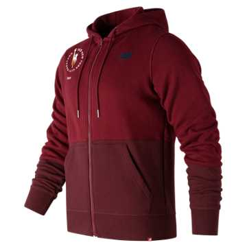 New Balance NYC Marathon Essentials Full Zip Hoodie, Mercury Red
