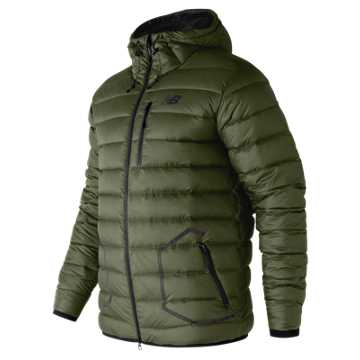 New Balance 247 Luxe Down Jacket, Military Dark Triumph