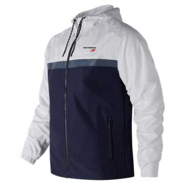 New Balance NB Athletics 78 Jacket, White with Navy