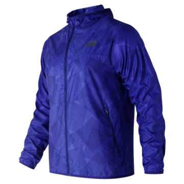New Balance Printed Windcheater Jacket, Pacific
