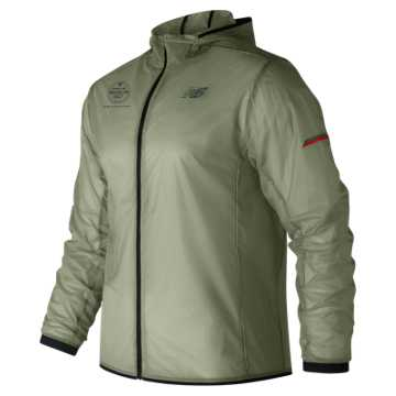 New Balance Brooklyn Half Light Packable Jacket, Silver Mint
