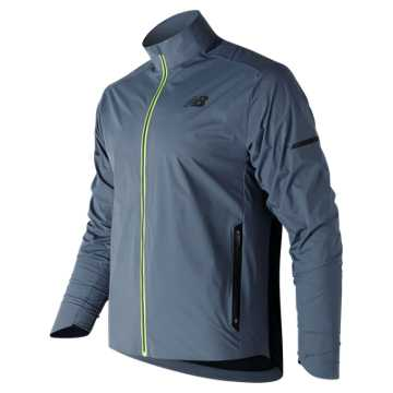New Balance Vented Precision Jacket, Deep Porcelain Blue