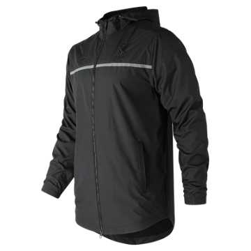 New Balance Pitch Black Windbreaker, Black